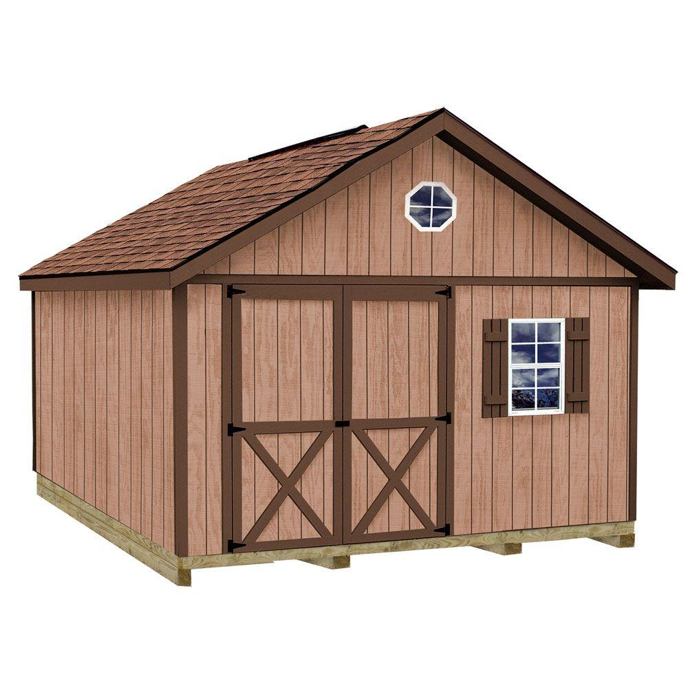 Best Barns Brandon 12 ft. x 12 ft. Wood Storage Shed Kit with Floor including 4 x 4 Runners