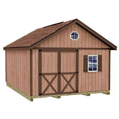 Brandon 12 ft. x 20 ft. Wood Storage Shed Kit with Floor including 4 x 4 Runners