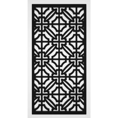 Imperial 2 ft. x 4 ft. Black Vinyl Decorative Screen Panel (Pack of 2)