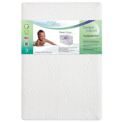 Azalea Comfort Cool Plus Convoluted Gel Mini And Portable Light Grey Crib Mattress I Removable Cover I 3' Mattress