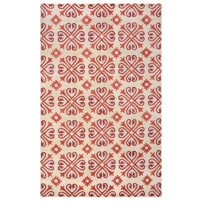 Opus Red 3 ft. x 5 ft. Area Rug