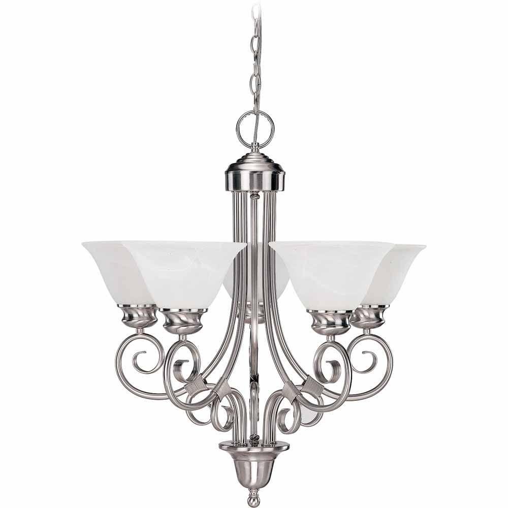 Lenor 5-Light Brushed Nickel Incandescent Ceiling Chandelier