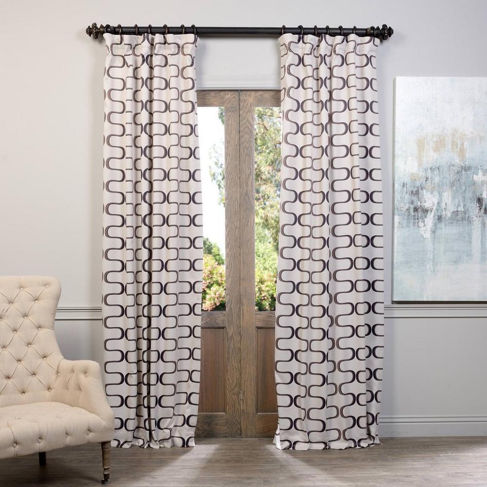 Semi-Opaque Retro Java Blackout Curtain - 50 in. W x 108 in. L (Panel)