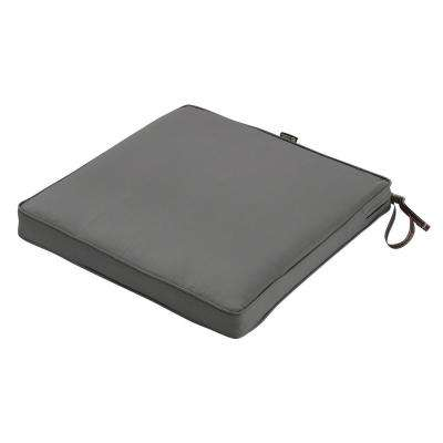 Montlake Fade Safe Light Charcoal 18 in. Square Outdoor Seat Cushion