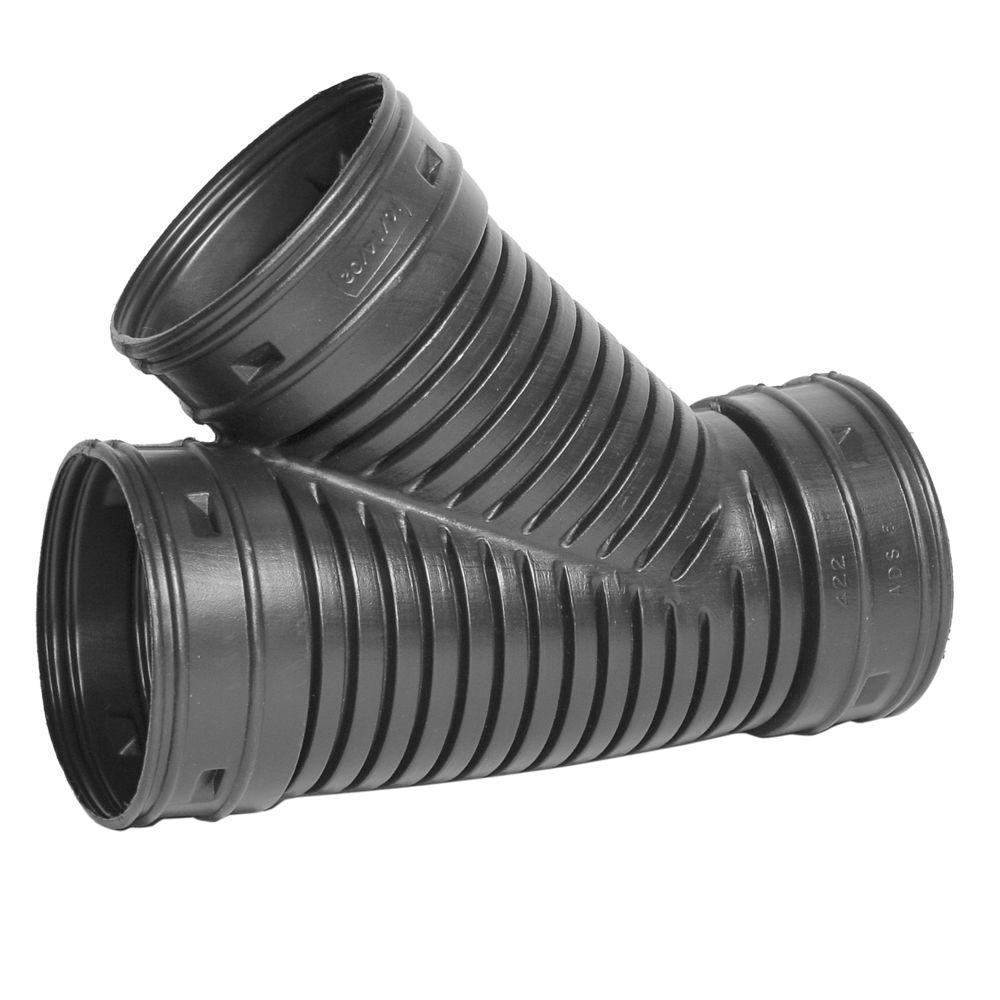 Advanced Drainage Systems 8 In Polyethylene Wye 0822aa