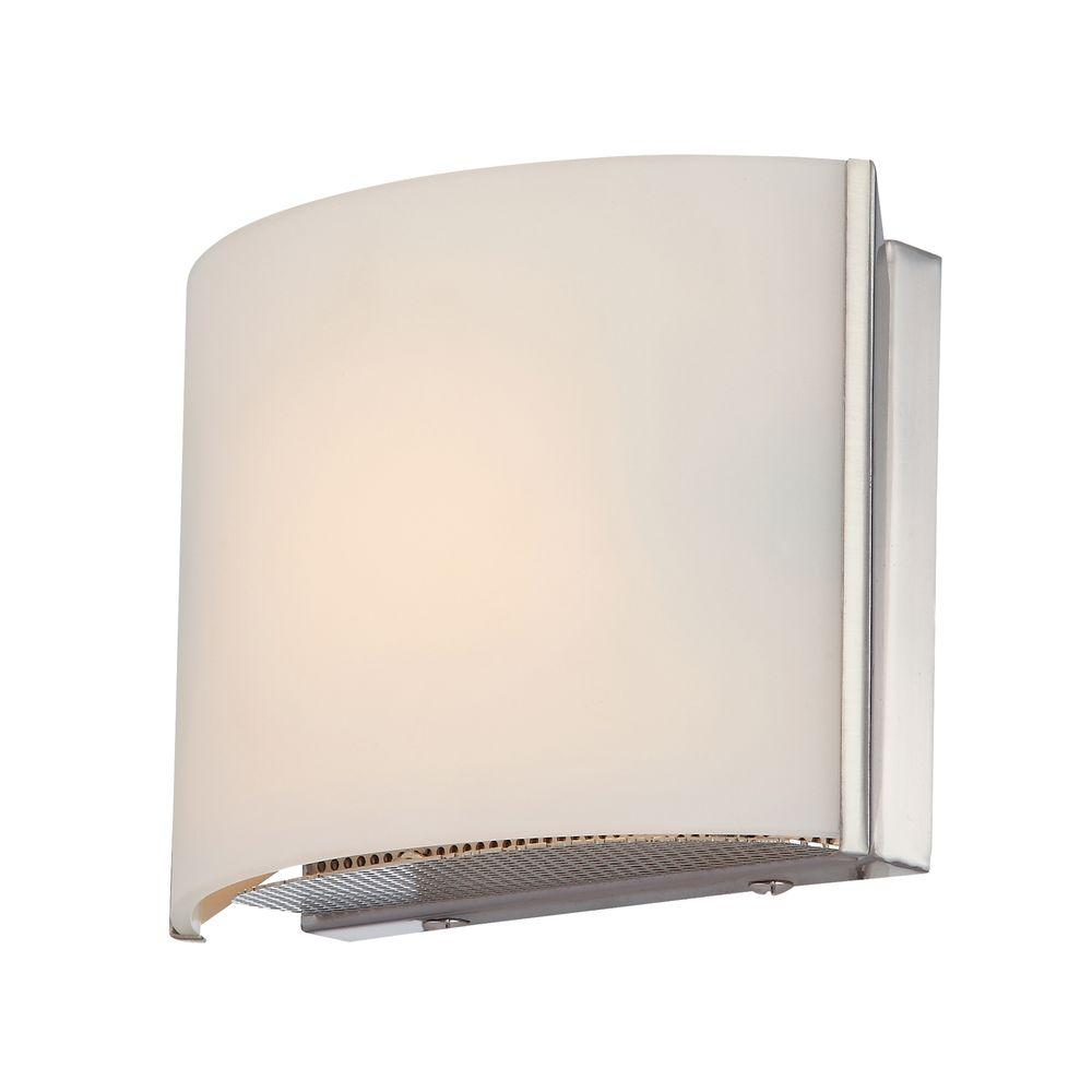 Titan Lighting Pandora 1-Light Chrome Vanity Light with White Opal Glass