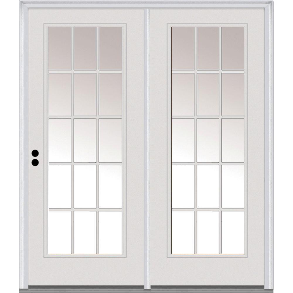 Mmi Door 64 In X 80 In Grilles Between Glass Primed