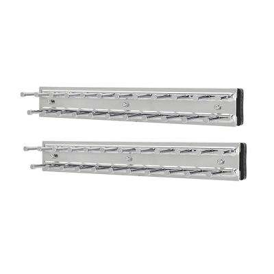 Chrome Tie Organizer with 23-Hooks Rack Side Mount for Closet (2-Pack)