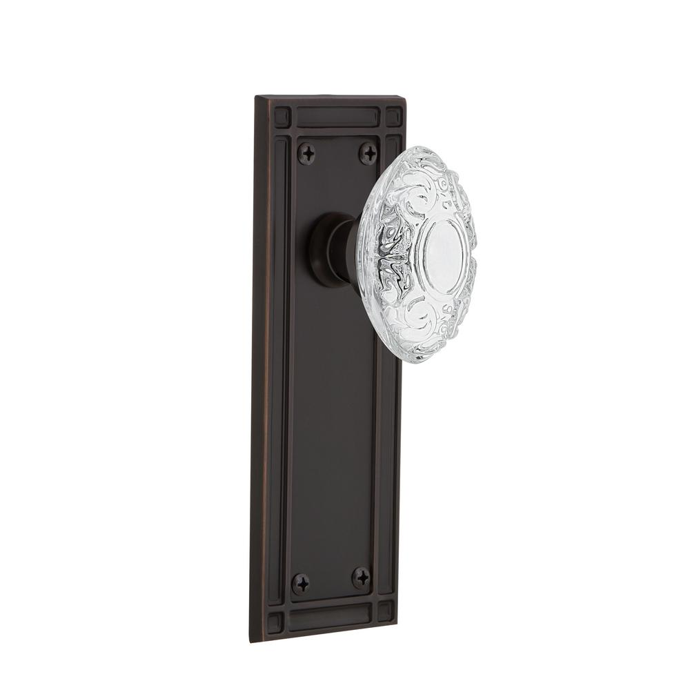 Nostalgic Warehouse Mission Plate 2 3 8 In Backset Timeless Bronze Privacy Bed Bath Crystal Victorian Door Knob 755120 The Home Depot