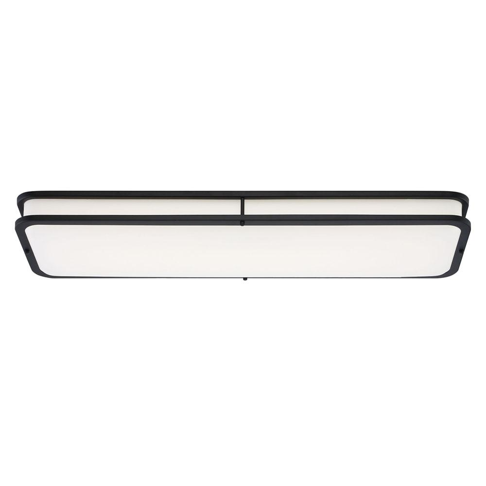 EnviroLite EnviroLite Modern Linear 40 in. Matte Black LED Flush Mount