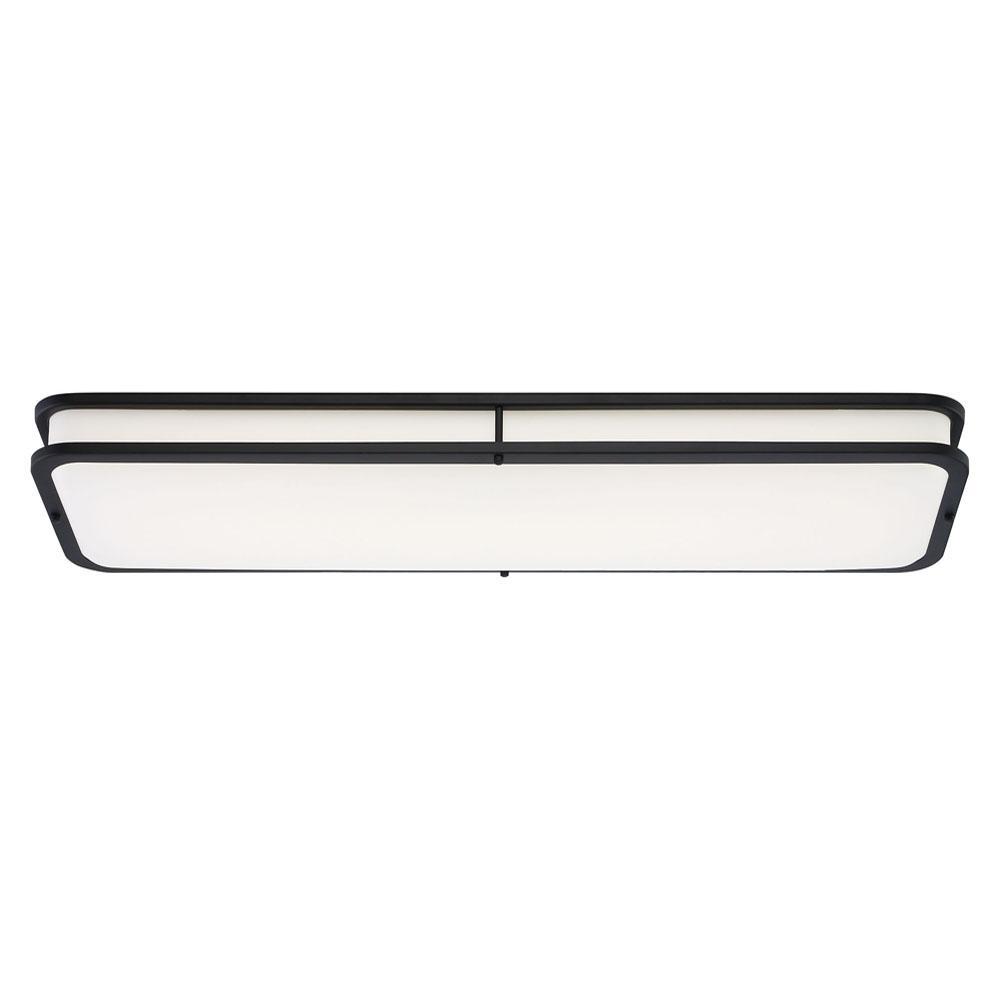 Modern Linear 40 in. Matte Black LED Flush Mount