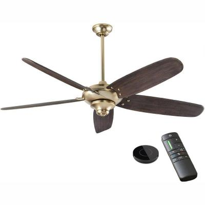 Altura DC 68 in. Brushed Gold Ceiling Fan works with Google Assistant and Alexa