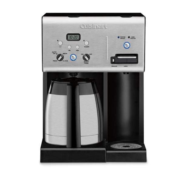10-Cup Black with Hot Water System Stainless Steel Coffee Maker