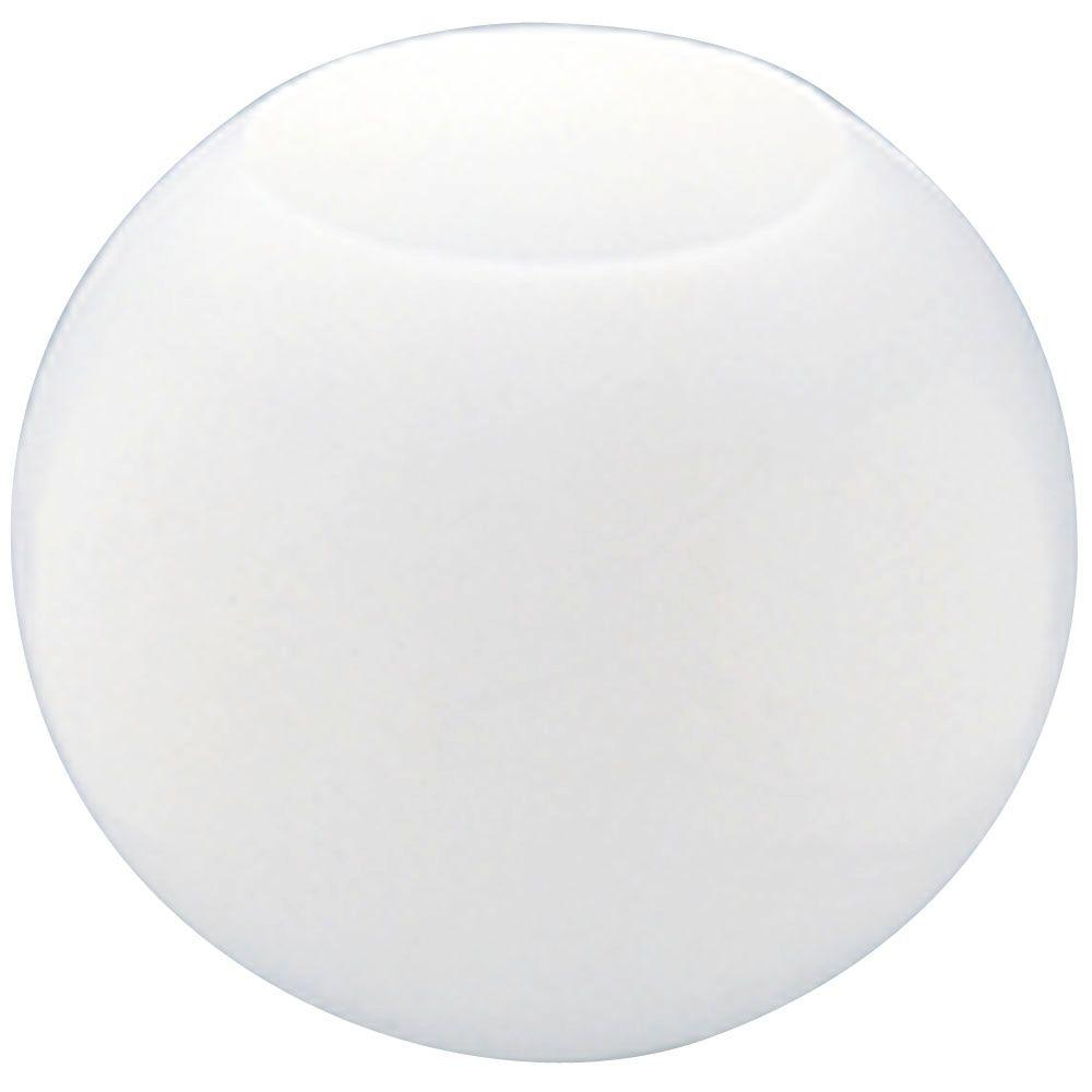 Westinghouse 14 in. White Acrylic Neckless Globe with 5-1/4 in. Top Opening