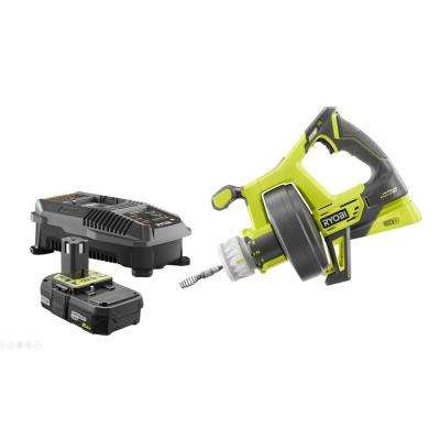18-Volt ONE+ Lithium-Ion Hybrid Drain Auger Kit with ONE+ 2.0 Ah Battery and 18-Volt Charger