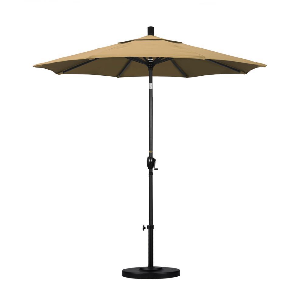 7-1/2 ft. Fiberglass Push Tilt Patio Umbrella in Champagne Olefin