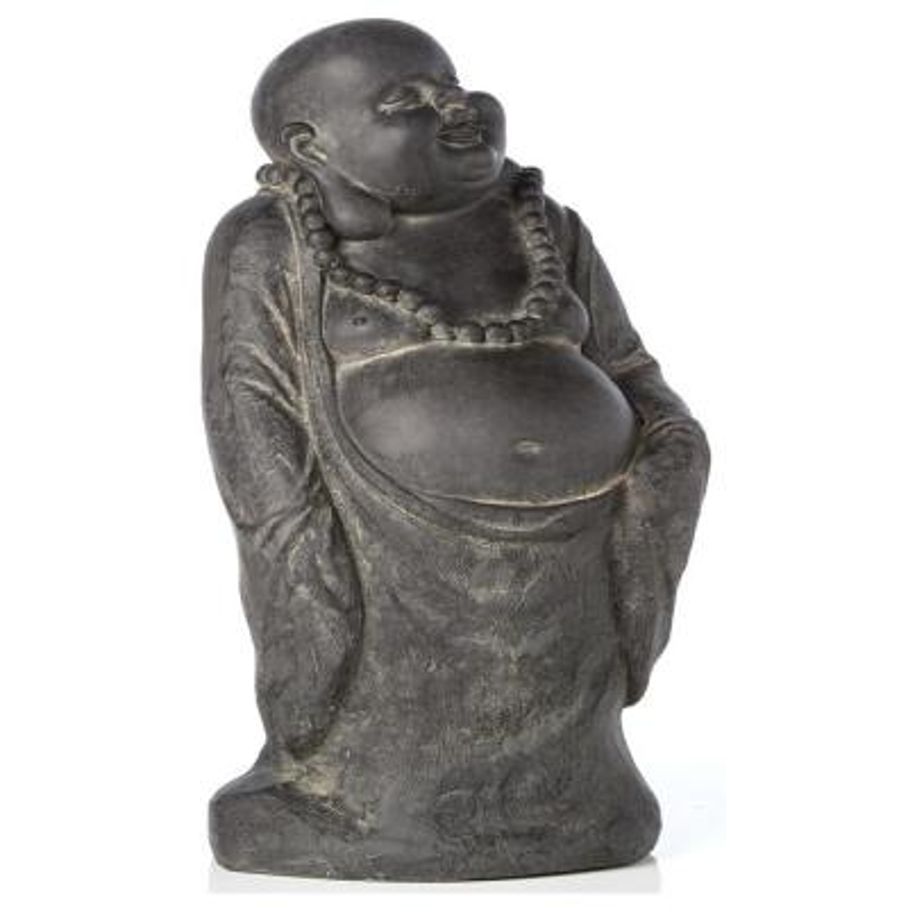 Buddha Garden Statue in Antique Dark Brown