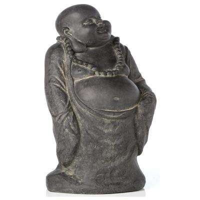 Buddha Garden Statue in Antique Dark Brown