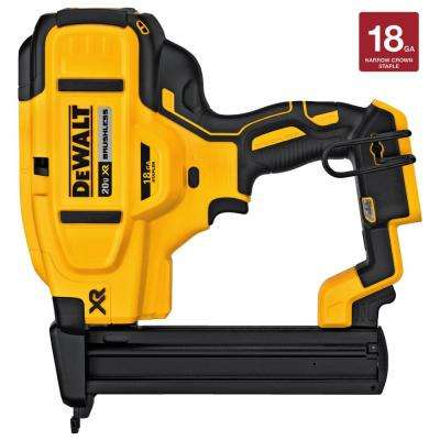 20-Volt MAX XR Lithium-Ion Cordless 18-Gauge Narrow Crown Stapler (Tool-Only)