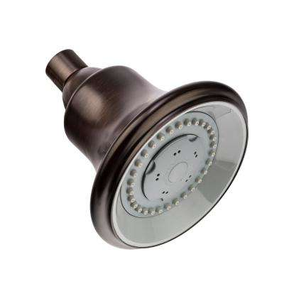Bell 2-Spray 4-1/2 in. Stream to Massage Fixed Showerhead in Oil Rubbed Bronze