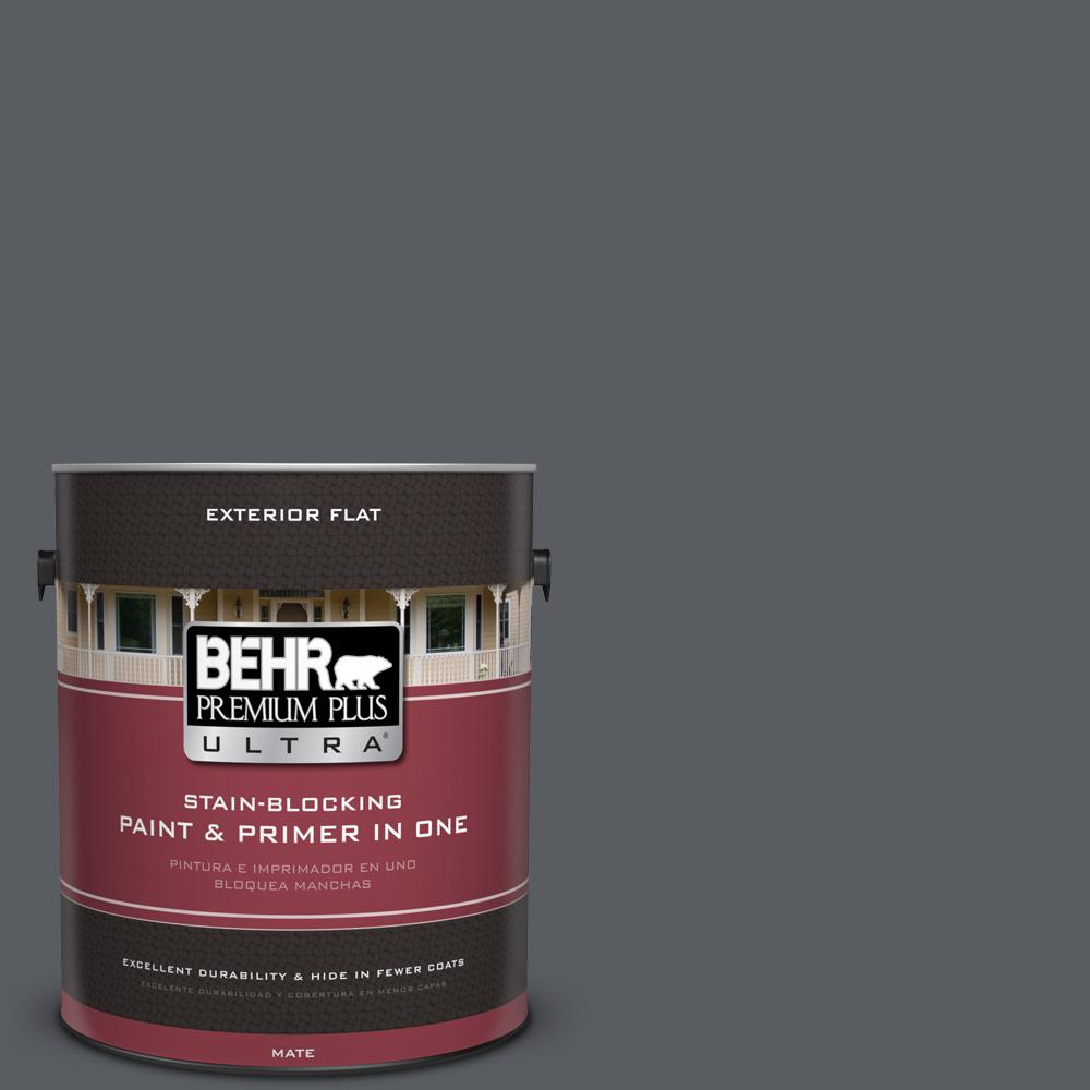 BEHR Premium Plus Ultra 1 gal. #UL260-22 Pencil Point Flat Exterior Paint