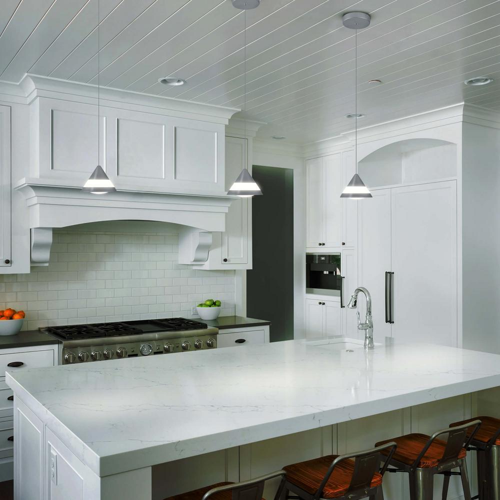 Procyon 5-Watt Silver Integrated LED Pendant Lighting Fixture
