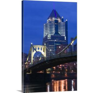 """""""Pennsylvania, Pittsburgh, Downtown View from Allegheny Landing"""" by Walter Bibikow Canvas Wall Art"""