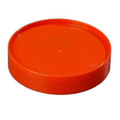 Replacement Lid Only for Stor 'N Pour Pouring System, Fits All Sized Containers in Orange (Case of 12)