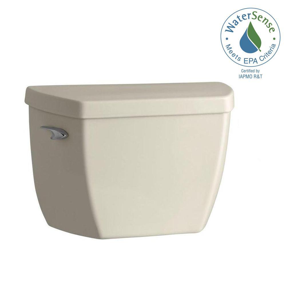 KOHLER Highline 1.0 GPF Single Flush Toilet Tank Only in Almond