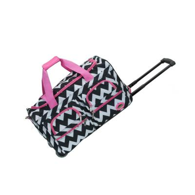 Rockland Voyage 22 in. Rolling Duffle Bag, Pinkchevron