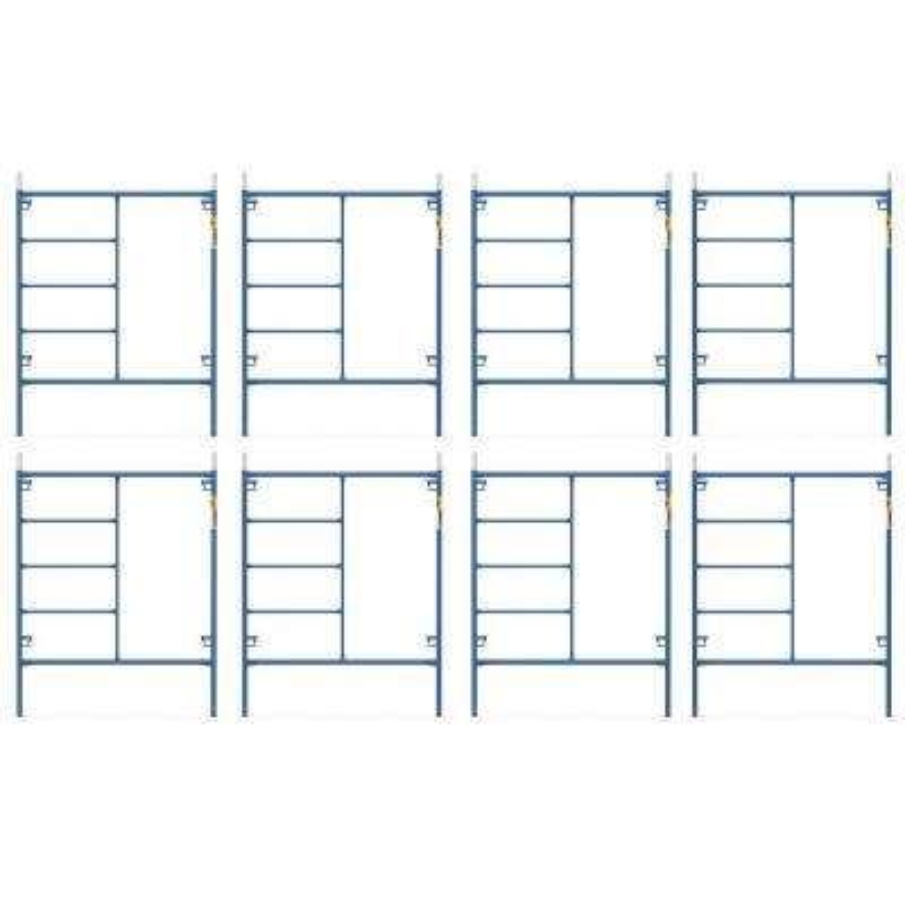 Saferstack 6.4 ft. x 5 ft. Mason Scaffold Frame (8-Pack)