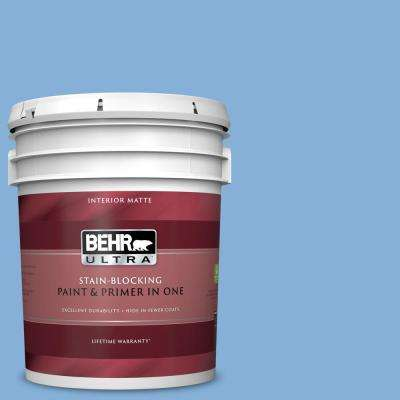 5 gal. #PPU15-12 Bluebird Matte Interior Paint and Primer in One