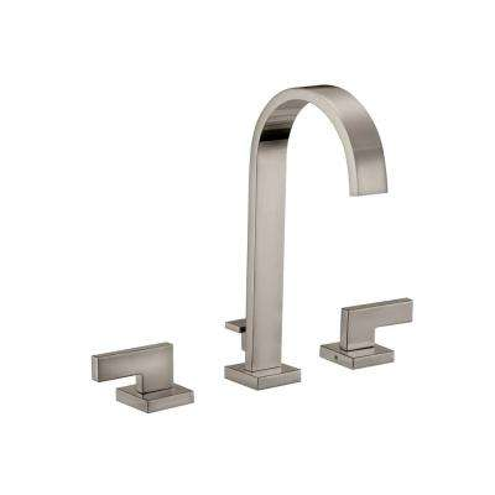 Karsen 8 in. Widespread 2-Handle High-Arc Bathroom Faucet in Satin Nickel