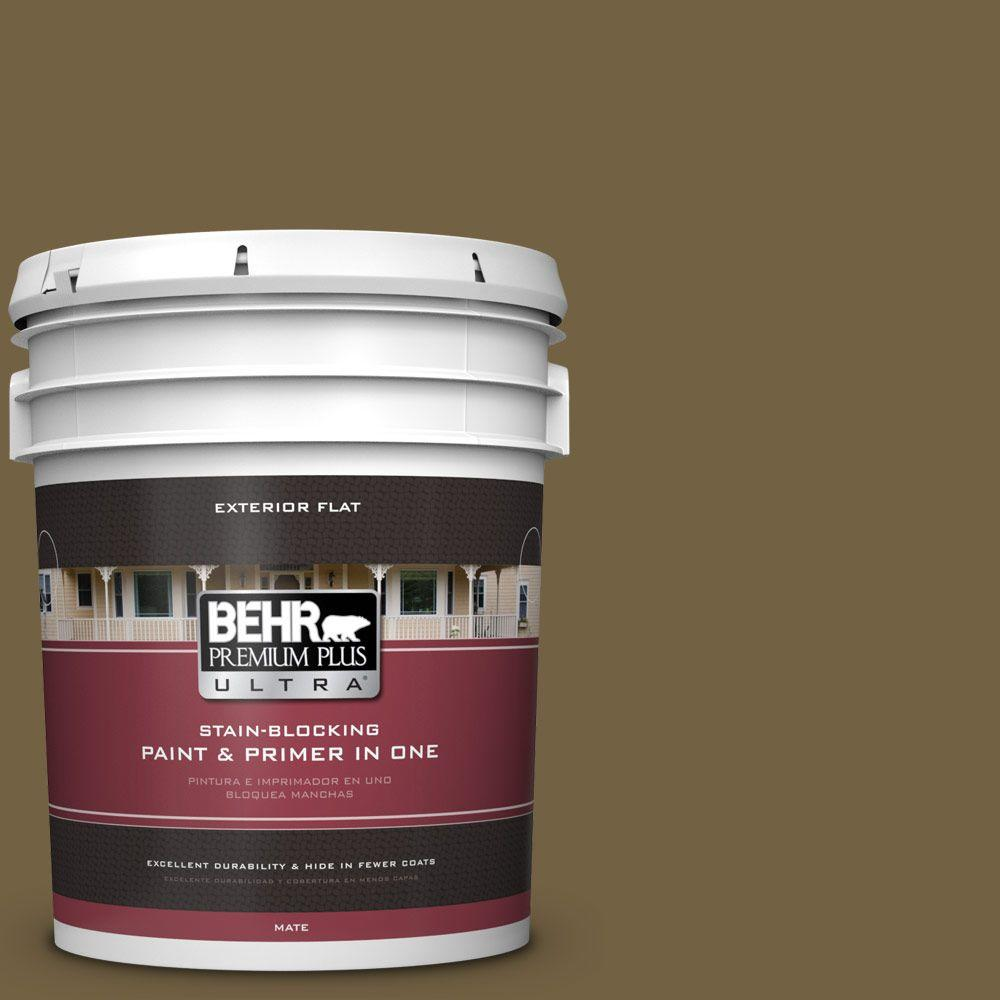 BEHR Premium Plus Ultra 5-gal. #PPU7-2 Tree Swing Flat Exterior Paint