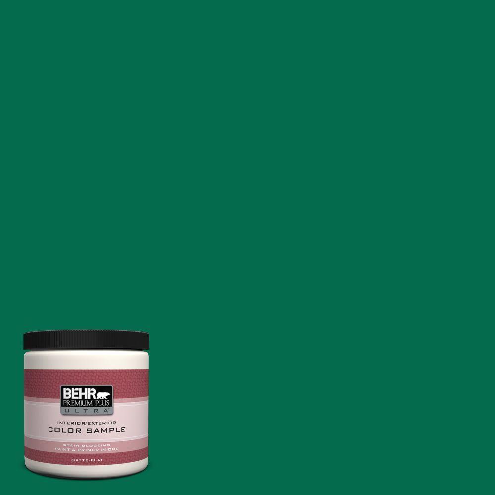 BEHR Premium Plus Ultra 8 oz. #S-H-470 Precious Emerald Interior/Exterior Paint Sample