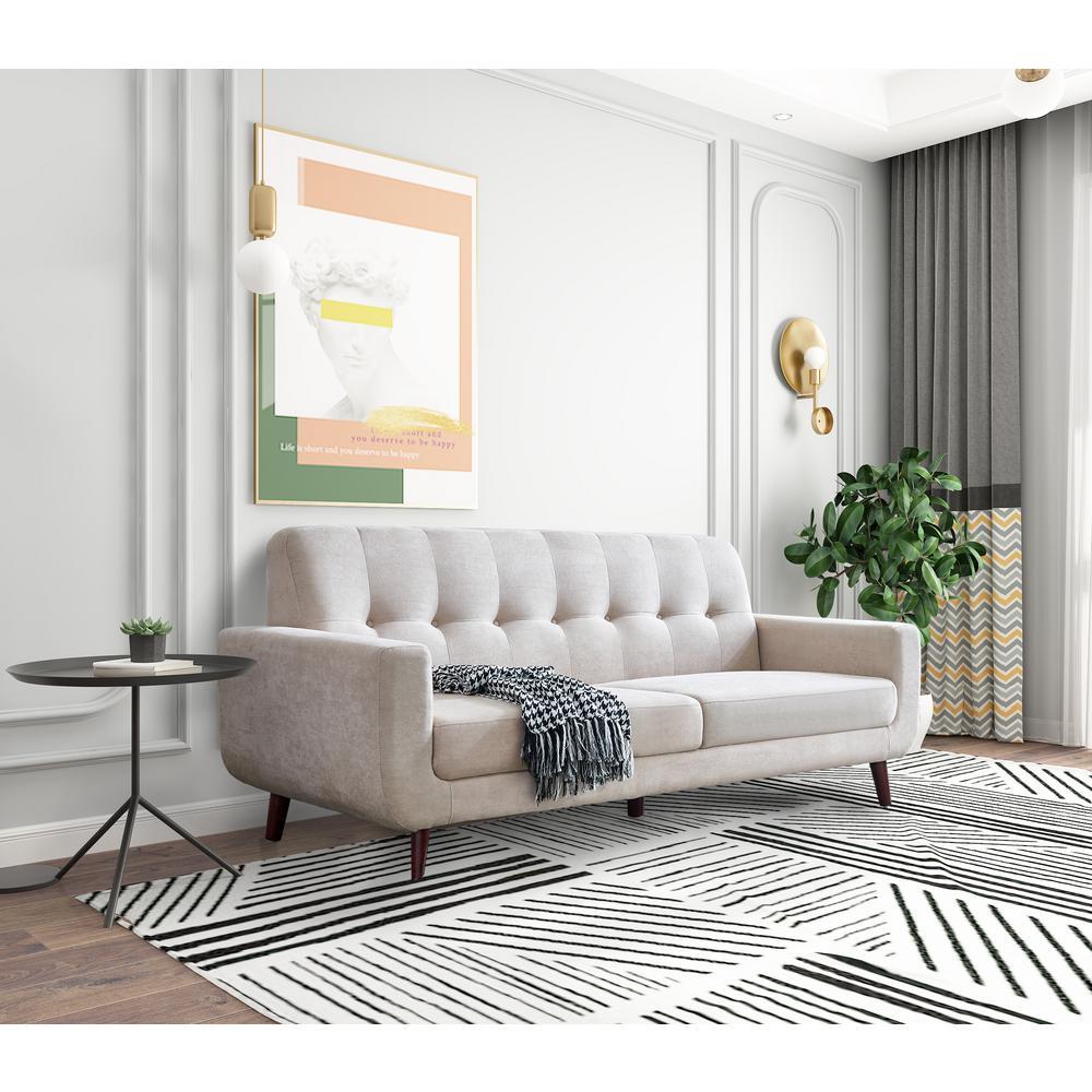 Boyel Living 79.6 in. Width Beige Mid-Century Modern Fabric ...