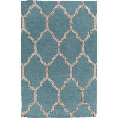 Anzio Teal 8 ft. x 10 ft. Indoor Area Rug