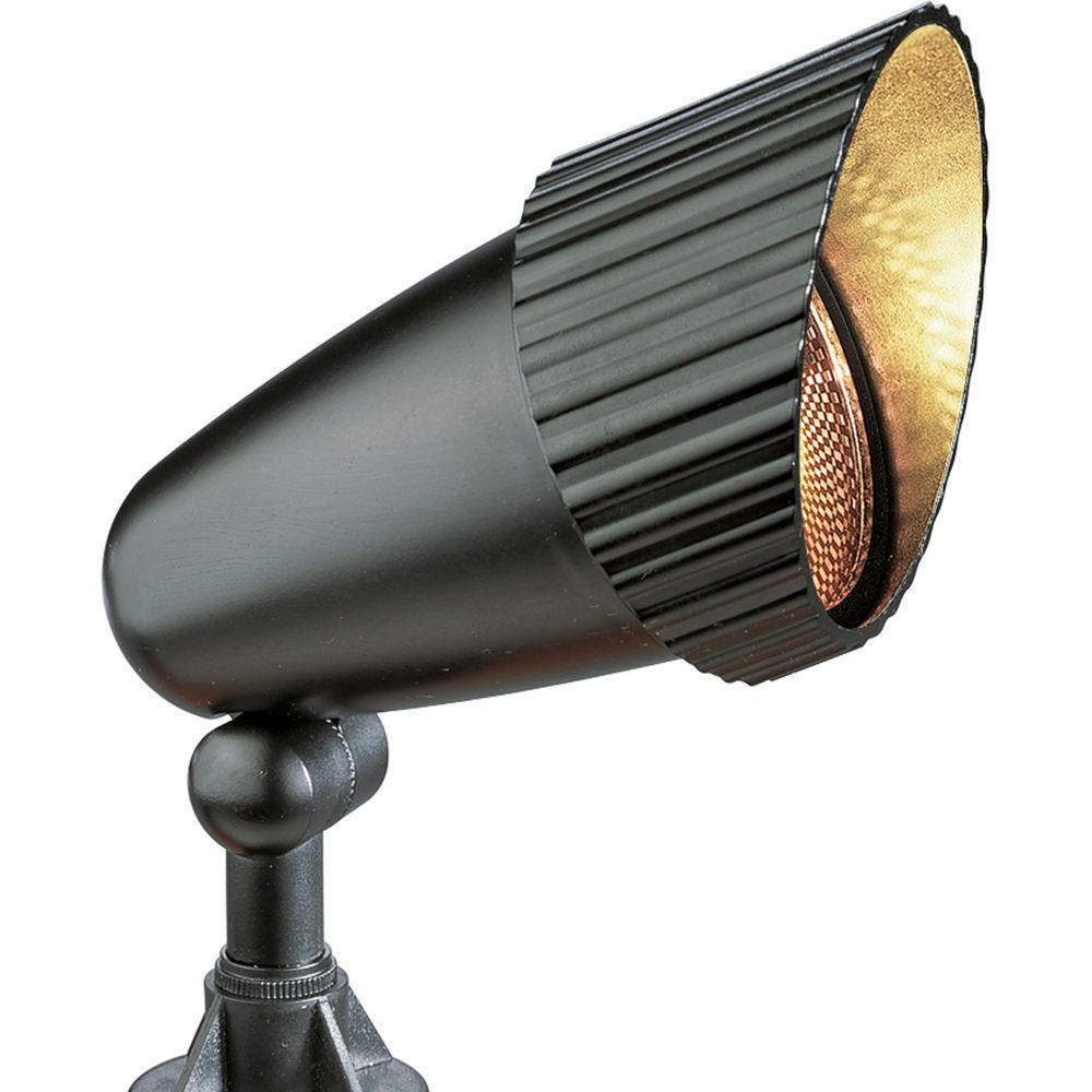 Landscape Lighting Home Depot: Progress Lighting Low-Voltage 50-Watt Black Outdoor