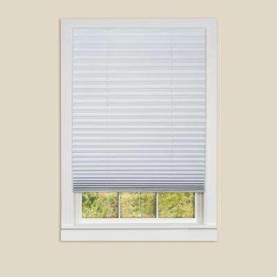 1-2-3 White Vinyl Room Darkening Window Pleated Shade - 48 in. W x 75 in. L