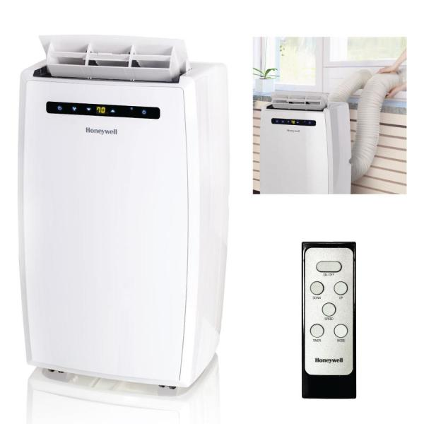 12,000 BTU (6,500 BTU, DOE) Portable Air Conditioner with Dual hose in White