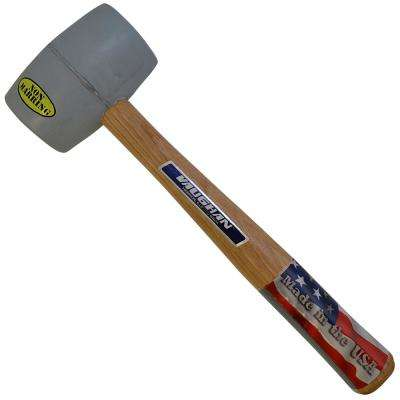 20 oz. White Rubber Mallet with 13 in. Hickory Handle