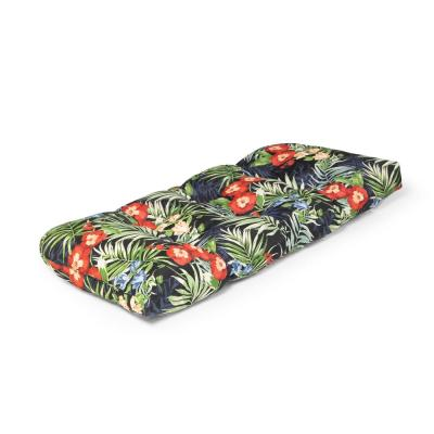 42 in. x 18 in. x 5 in. Caprice Tropical Outdoor Tufted Bench Cushion