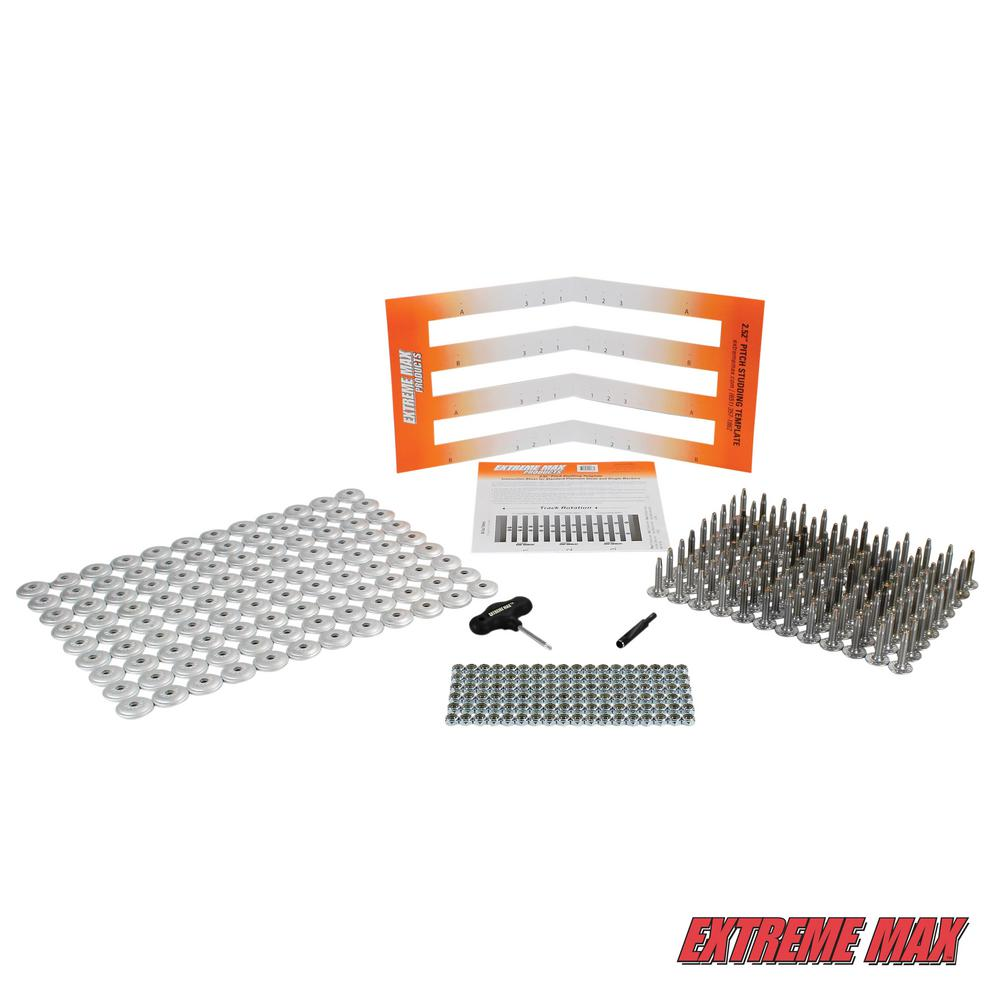 Extreme Max 1.15 in. L 108-Stud Track Pack with Round Backers