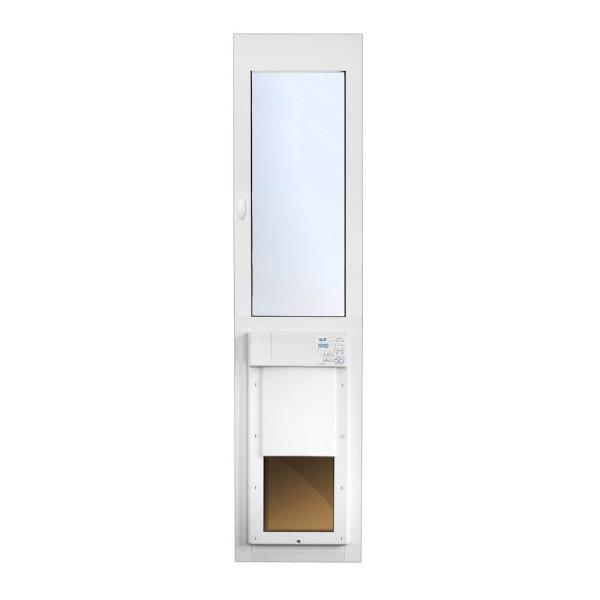 12-1/4 in. x 16 in. Power Pet Fully Automatic Patio Pet Door with Dual Pane Low-E Glass, Regular Track Height
