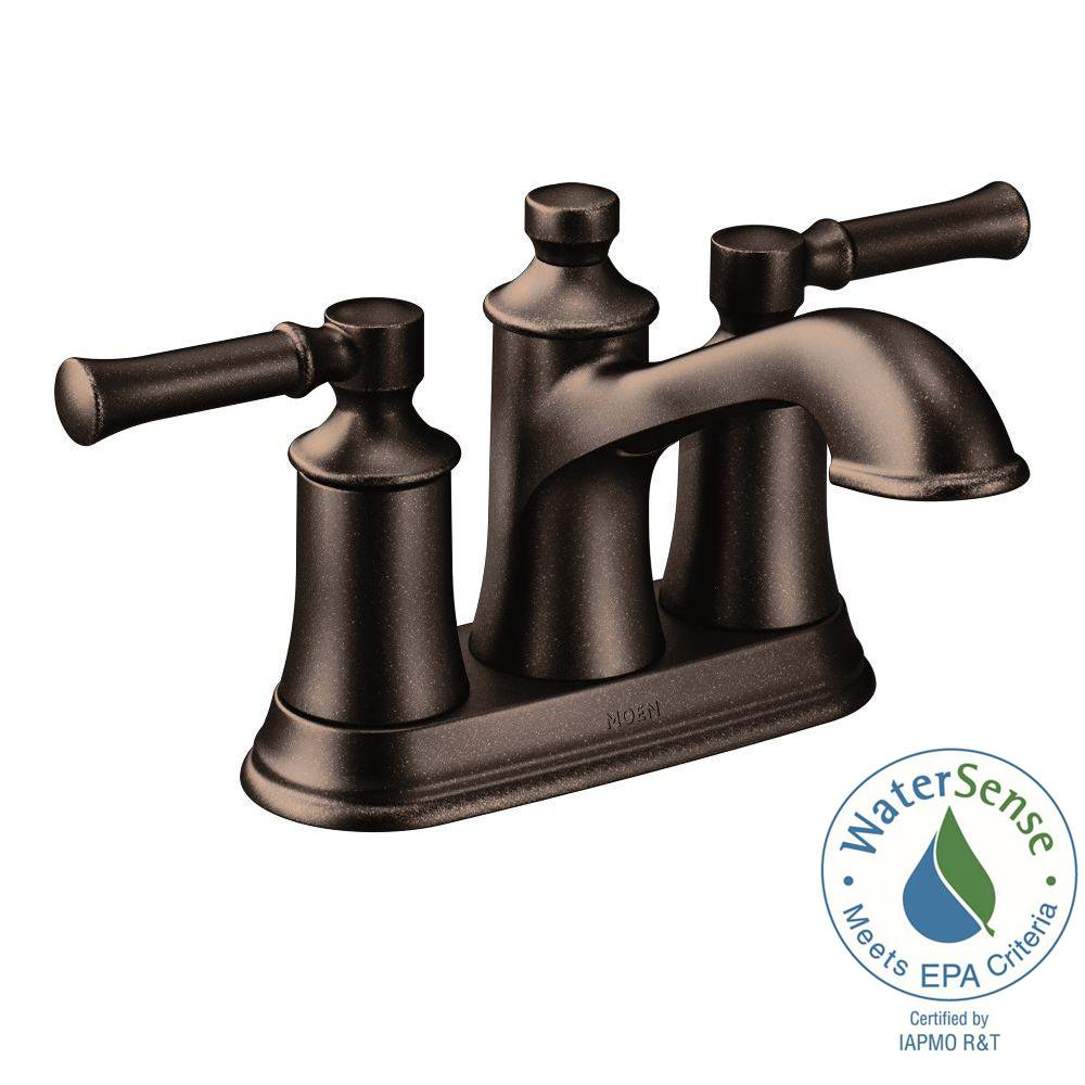 Oil Rubbed Bronze Bathroom Shower Faucet Set Mixer Tap with Shower Heads