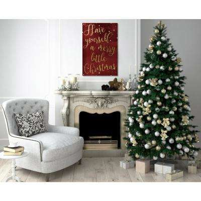 """""""Have Yourself A Merry Christmas"""" by Oliver Gal Canvas Wall Art"""