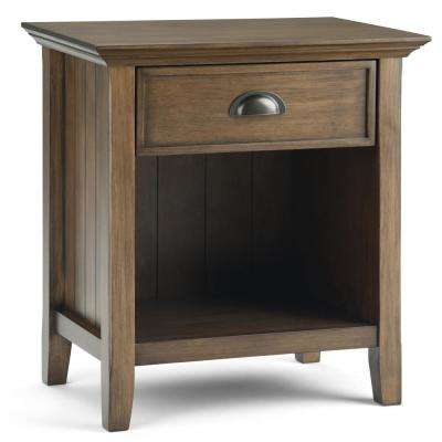 Acadian Rustic Natural Aged Brown Nightstand