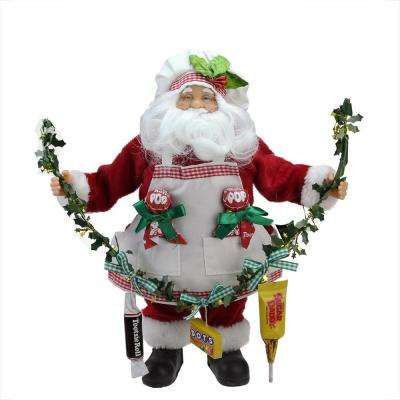 12 in. Santa Claus Holding a Garland with Tootsie Candies Christmas Decoration