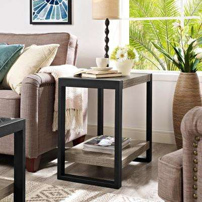 Urban Blend Ash Grey Storage Side Table