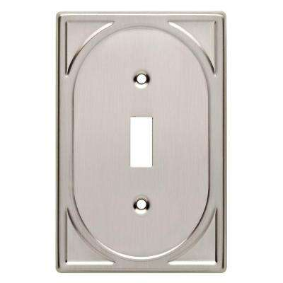 Cambray Decorative Single Switch Plate, Satin Nickel
